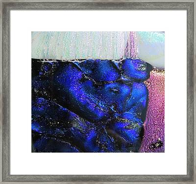 Framed Print featuring the painting Glass River by Kathy Sheeran