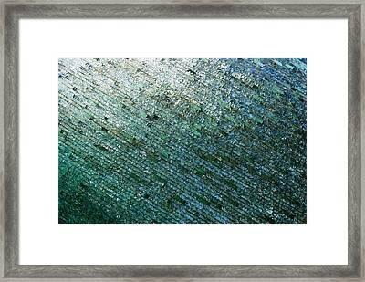 Glass Strata Framed Print