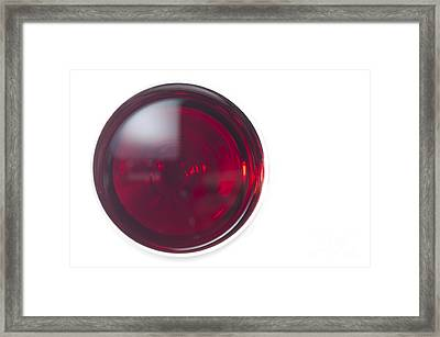 Glass With Red Wine Framed Print by Mats Silvan