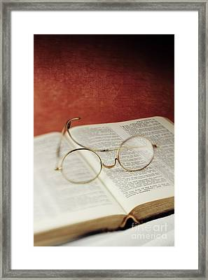 Glasses And Proverbs Framed Print by Stephanie Frey