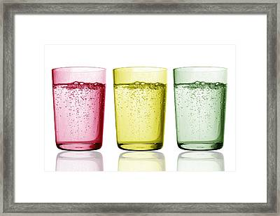 Glasses Of Water Framed Print by Gombert, Sigrid