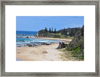 Glasshouse Rocks Beach Framed Print