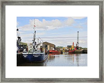 Glasson Dock Framed Print by Jason Connolly