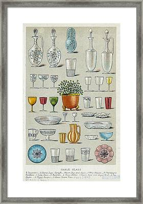 Glassware, Historical Artwork Framed Print by Mid-manhattan Picture Collectionglassnew York Public Library