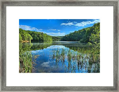 Glassy Waters Framed Print by Adam Jewell