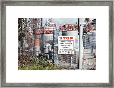 Glaxosmithkline Factory,uk Framed Print by Mark Williamson