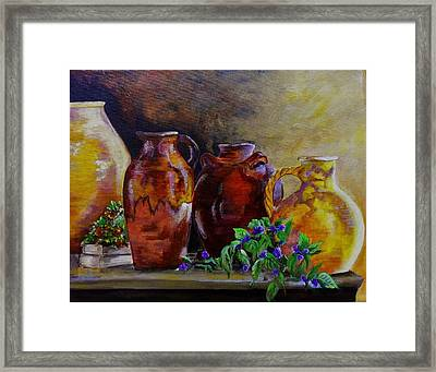 Glazed Pottery Framed Print