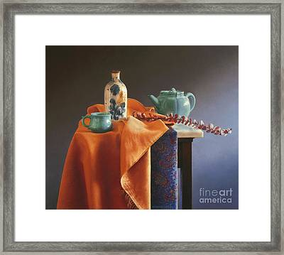 Glazed With Light Framed Print