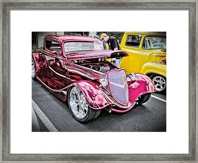 Gleeming Red Framed Print by Don Fleming