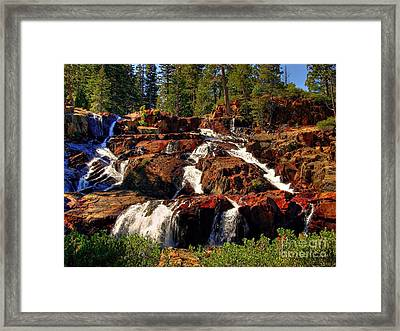 Glen Alpine Falls Framed Print by Scott McGuire