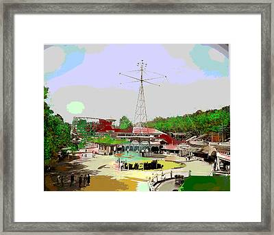 Framed Print featuring the mixed media Glen Echo Park by Charles Shoup