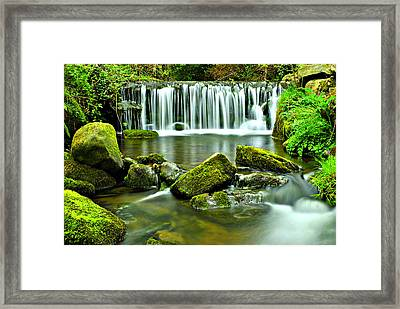 Glen Falls Framed Print