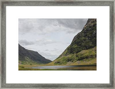 Framed Print featuring the photograph Glencoe Pass by David Grant