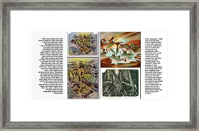 Glenn Litho-diary 1981-85 Framed Print