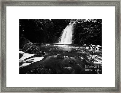 Gleno Or Glenoe Waterfall County Antrim Northern Ireland Uk Framed Print by Joe Fox