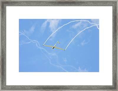 Glider Aerobatics Against Blue Sky Canvas Poster Photo Print Framed Print by Keith Webber Jr