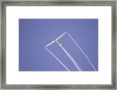 Glider Flying Aerobatics At Airshow Canvas Photo Poster Print Framed Print by Keith Webber Jr