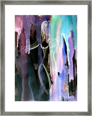 Framed Print featuring the painting Gliding by Julie Lueders