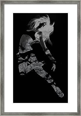 Gliding Framed Print by Naxart Studio