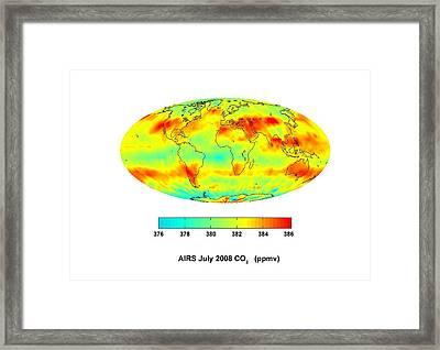 Global Carbon Dioxide Transport, 2008 Framed Print by Nasajpl