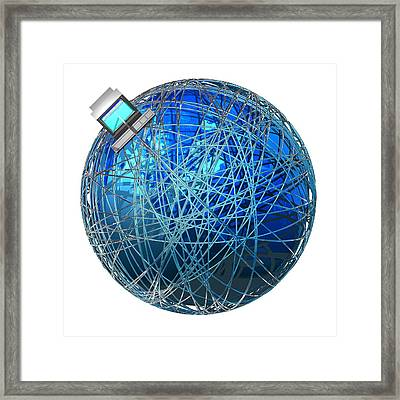 Global Communications, Conceptual Artwork Framed Print