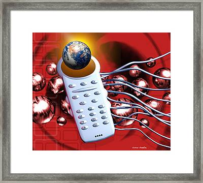 Global Communications Framed Print by Victor Habbick Visions