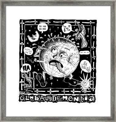 Global Dementia Framed Print