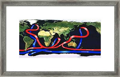 Global Ocean Circulation Framed Print by