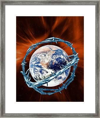 Global Security Framed Print