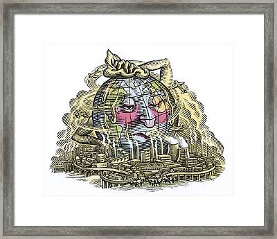 Global Warming, Conceptual Image Framed Print by Bill Sanderson