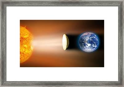 Global Warming Sun Shield, Artwork Framed Print by Victor De Schwanberg