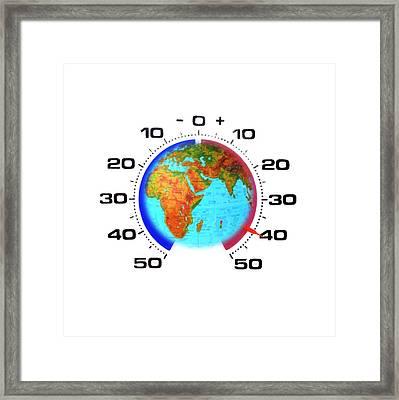Global Warming,conceptual Image Framed Print by Cristina Pedrazzini