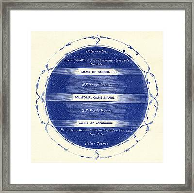 Global Wind Patterns Framed Print