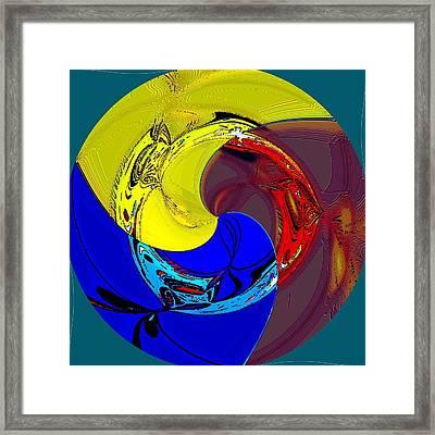 Globalization Framed Print by Rod Saavedra-Ferrere