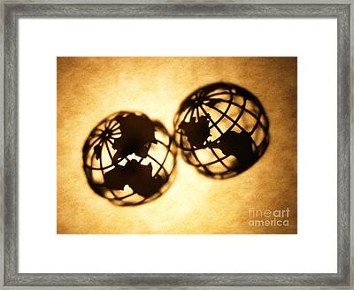 Globe 2 Framed Print by Tony Cordoza