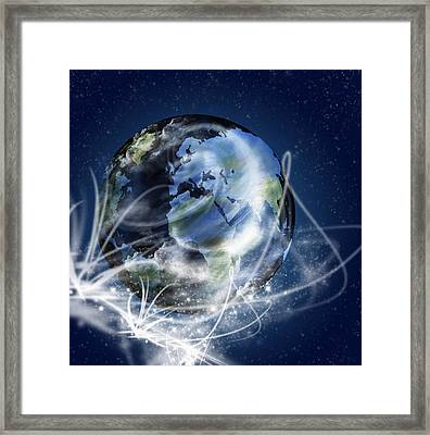 Globe Framed Print by Setsiri Silapasuwanchai
