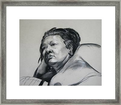 Gloria Portrait Framed Print by Morgan Banks