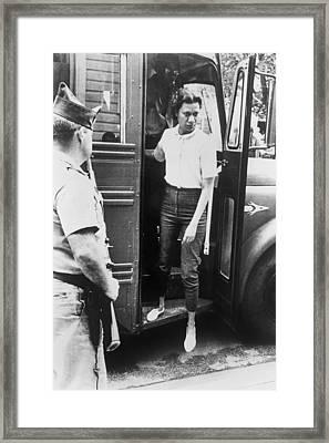 Gloria Richardson, Arriving At Court Framed Print by Everett