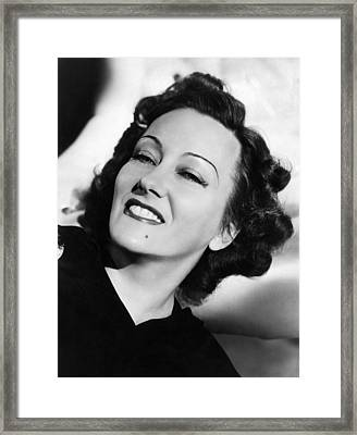 Gloria Swanson, Ca. Early 1940s Framed Print