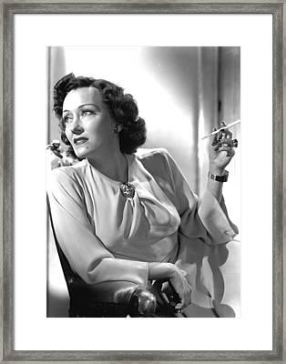 Gloria Swanson, Circa 1940s Framed Print by Everett