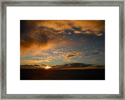 Glorious Sunrise On The Indian Ocean Framed Print