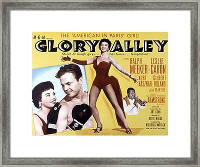 Glory Alley, Leslie Caron, Ralph Framed Print by Everett