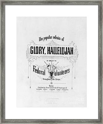 Glory, Hallelujah Framed Print by Photo Researchers