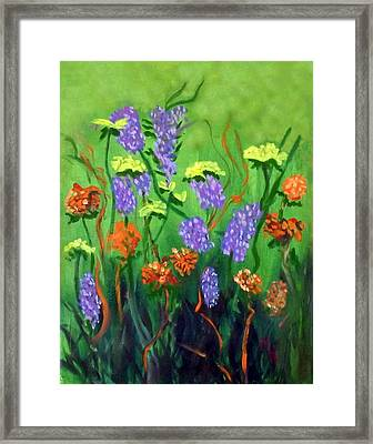 Framed Print featuring the painting Glory Of The Morning by Margaret Harmon