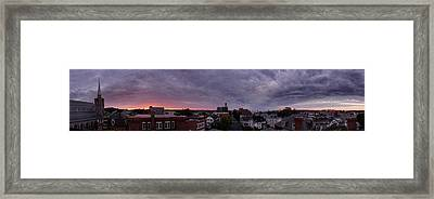 Gloucester Sunrise Panorama Framed Print by Matthew Green