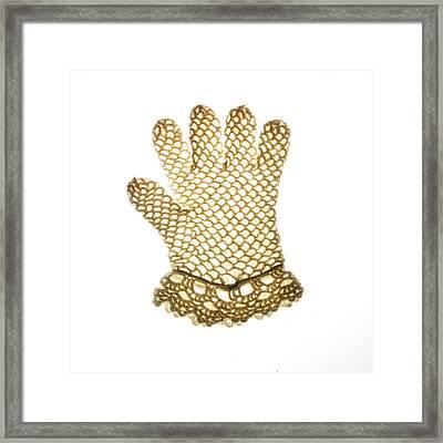 Glove Framed Print by Bernard Jaubert