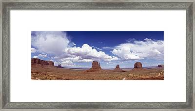 Glove Buttes And Clouds Framed Print by Axiom Photographic