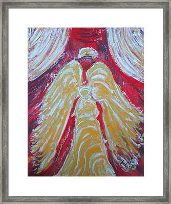 Glow Angel Framed Print by Cecile Smit