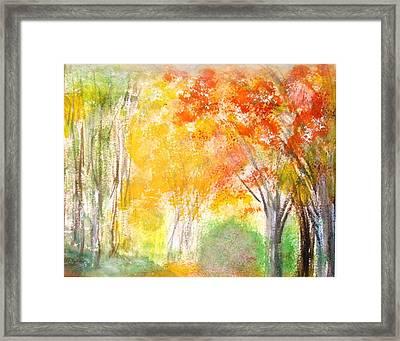 Glow Framed Print by Edie Schmoll