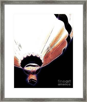 Glow In The Dark Framed Print by Methune Hively
